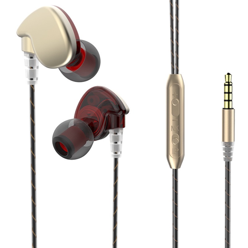 LENK Headset Copper Driver HiFi Sport In Ear Earphone For Running With Microphone Drive-by-wire Stereo bass Ear Hook Earphones qkz c6 sport earphone running earphones waterproof mobile headset with microphone stereo mp3 earhook w1 for mp3 smart phones