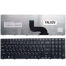 YALUZU Русская клавиатура для acer PK130C94A00 NSK-AUB0R PK130C91104 V104702AS3 MP-09B23SU-6983 PK130C91100 RU ноутбука черный