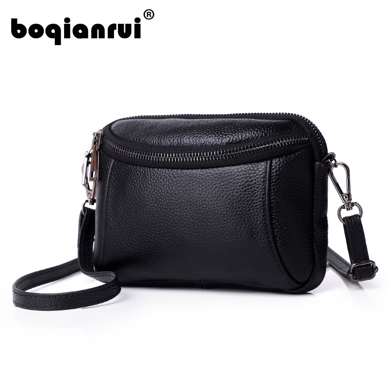 New Women Handbags Simple Fashion Flap Genuine Leather Woman