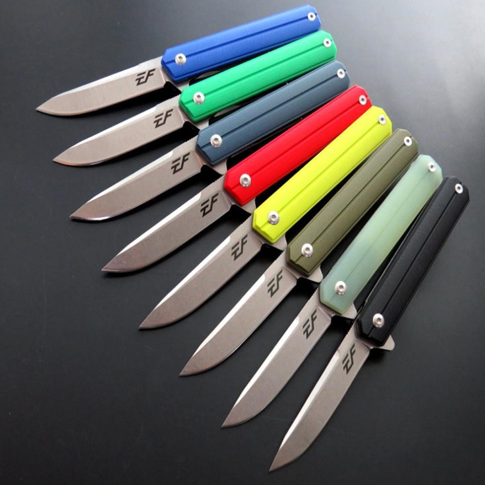 Eafengrow EF64 58-60HRC D2 Lame G10 Poignée couteau Pliant outil De Camping de Survie Couteau De Poche De Chasse tactique edc outil extérieur