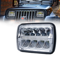5X7 LED Proector Headlight Sealed Beam Replacement DOT Approved Light for truck off road 4x4 Jeep Cherokee