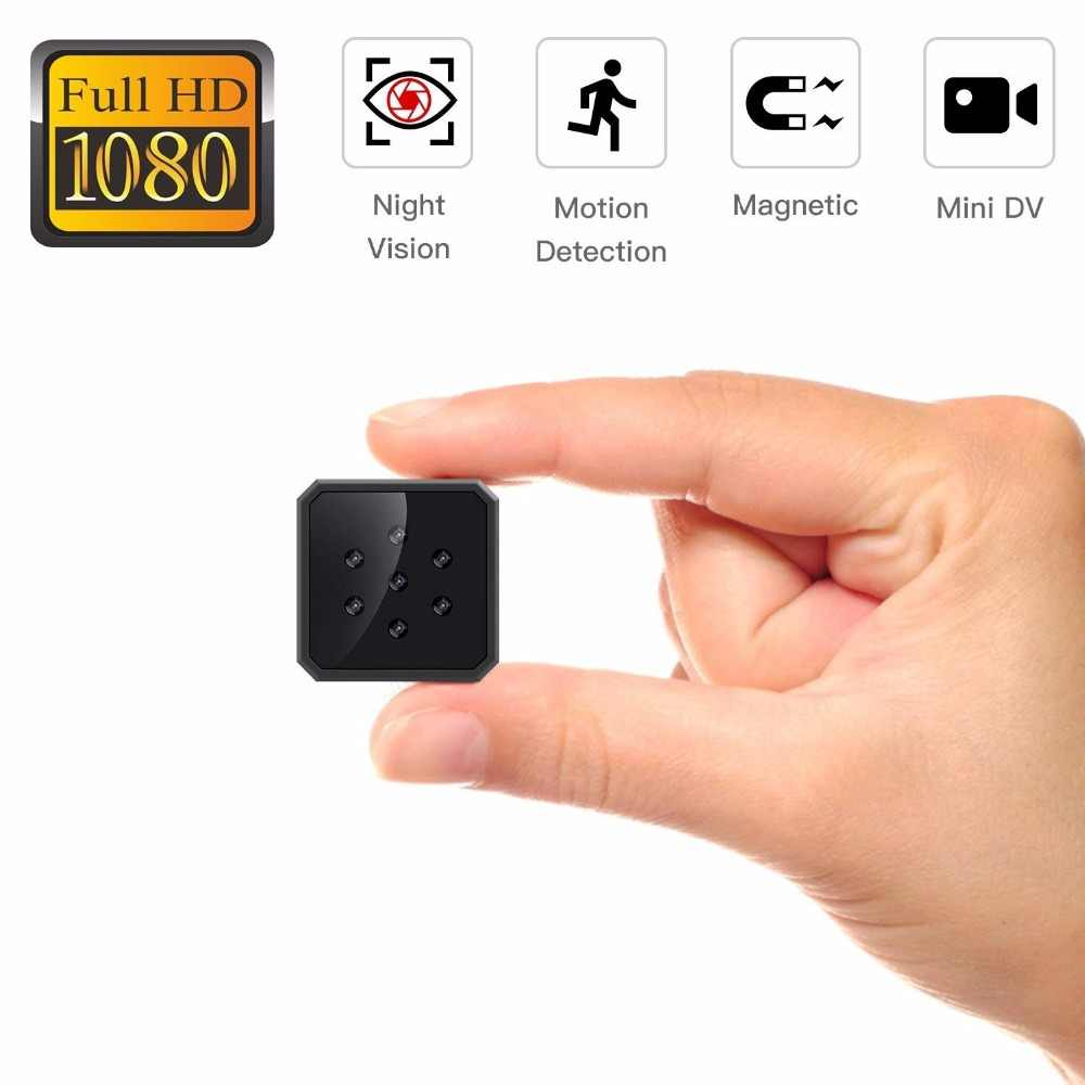 Invisible Night Vision Portable Magnetic HD 1080P super Mini Body Camera Video Recorder  Motion Detection Support Hidden TF card