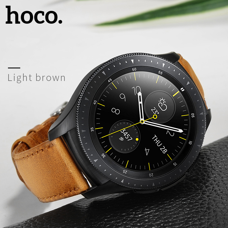Image 5 - HOCO 20mm 22mm Genuine Leather Business Casual Strap For Samsung Galaxy Watch 42mm Also Compatible For Samsung Galaxy Watch 46mm-in Watchbands from Watches