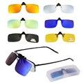 Поляризационные солнцезащитные очки на застежке для мужчин и женщин  близорукие очки для вождения  ночного видения  UV400  велосипедные очки д...