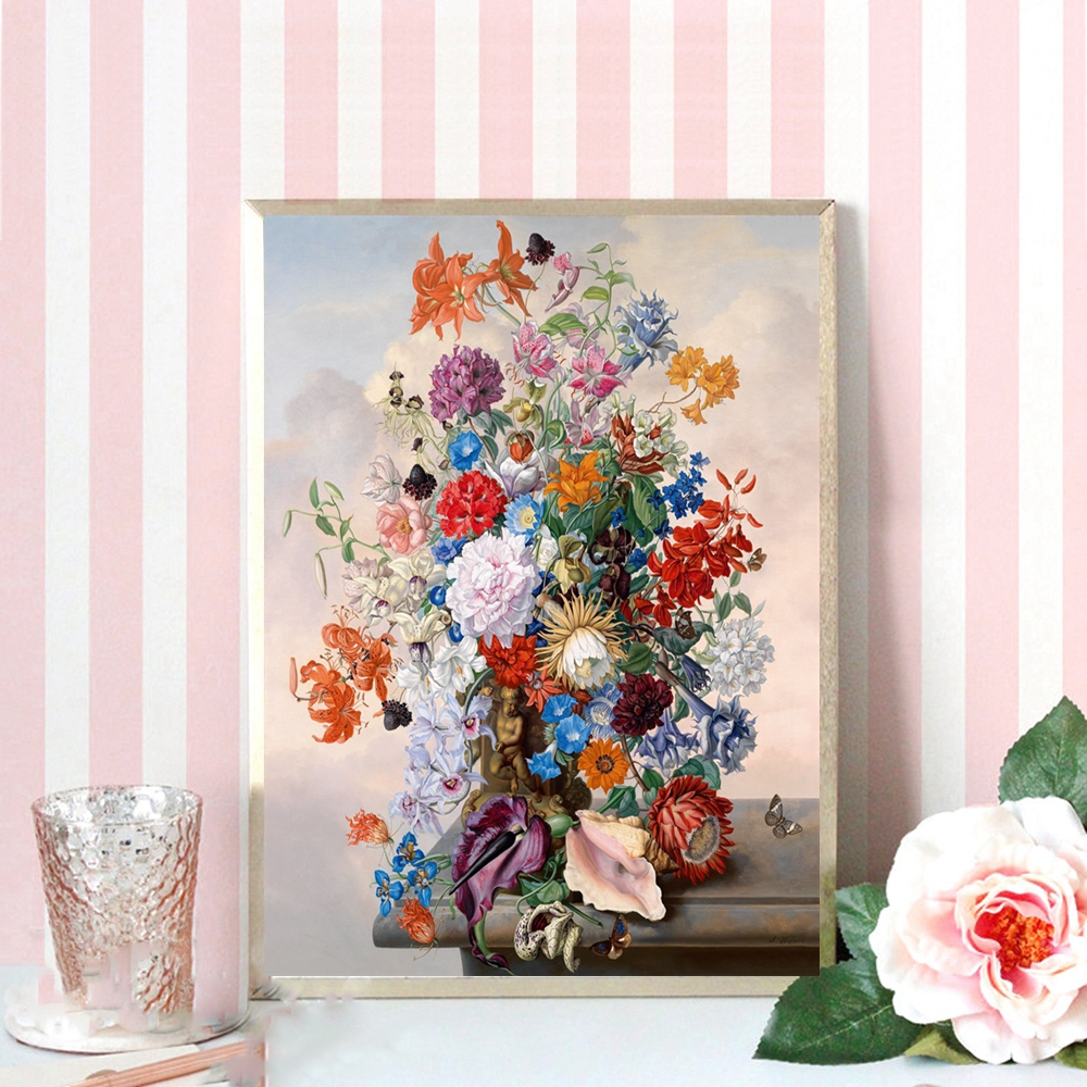 Beautiful Painting Canvas Printings Home Decorative Flower Bonsai Wall Art Canvas Picture for Kitchen Room Wall Decor Drop Ship in Painting Calligraphy from Home Garden