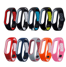 mix color style For Miband 3 Strap Mi band Replacement silicone wrist strap for xiaomi mi smart bracelets