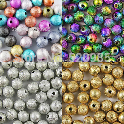 Spacer Beads Craft Jewelry-Making Stardust Acrylic Gold/rainbow Charms-Findings Round-Ball