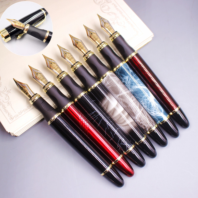 High quality 0.5mm Iraurita Fountain pen Full metal Golden Clip luxury pens Jinhao 450 Caneta Stationery Office school supplies цена