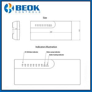 Image 5 - Beok CCT 10 محور تحكم 8 غرفة فرعية صمام كهربائي صندوق LCD يشير إلى 8 قنوات المكثف