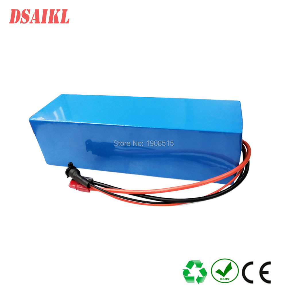 48V 10Ah Rechargeable Lithium Battery Pack For 500W Ebike Electric Bicycle BMS