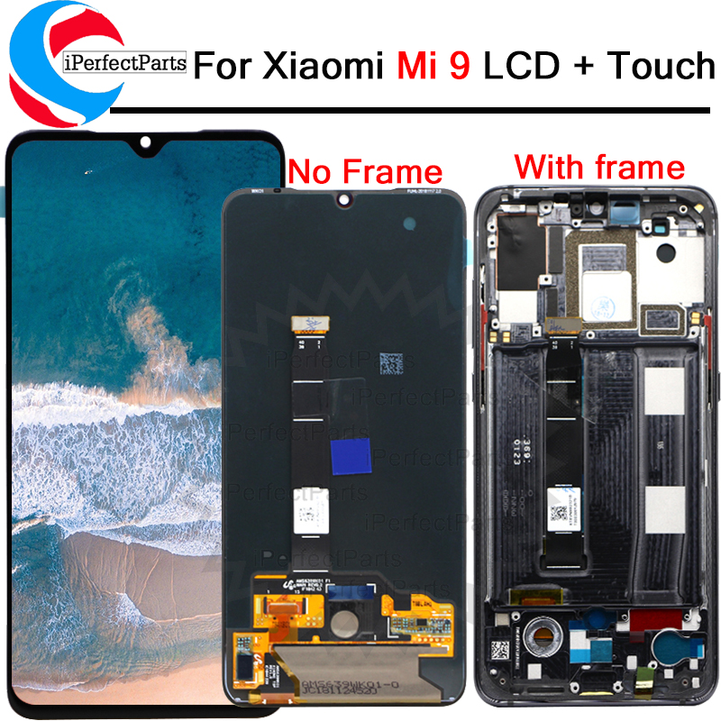 Original LCD Lcd-Display Frame AMOLED Xiaomi Mi-9 Touch-Screendigitizer-Assembly  title=
