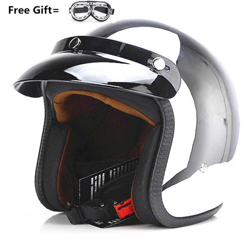 new vintage motorcycle helmet man women 3/4 harley scooter jet helmets pilot open face vespa helmet moto casque DOT