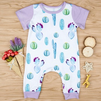 2018 New Arrivals Summer Newborn Baby Girls Rompers Floral Cactus Printed Infant Jumpsuits Onesie Baby Girls Fashion Rompers