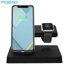 цена на FDGAO 2 in1 Charging Stand Usb Charger for Apple Watch IWatch Series 1 2 3 IPhone XS Max XR X 6S 7 8 Plus Desktop Dock Station