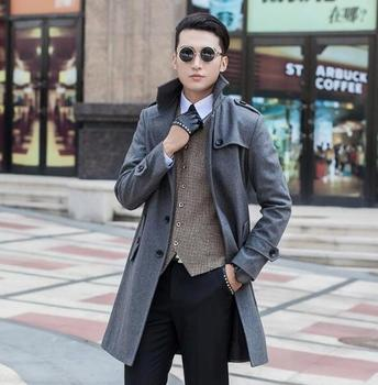 Jaqueta masculina casaco fashion wool coat men single breasted coat men trench coats sobretudo manteau homme plus size S – 9XL