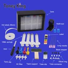 Toney King СНПЧ чернильный бак печатная Непрерывная система с чернильной трубкой для hp 304 304XL N9K08AE N9K07AE Deskjet 3700 3720 3730 3732