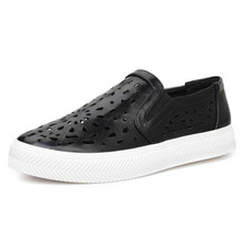 HOT sale women's creepers flat platform slip-on shoes spring/summer casual round toe flats for women casual shoes cut-outs flats