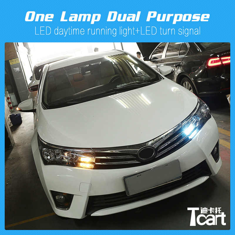 Tcart T20 7440 WY21W Auto Led Drl Knipperlichten Voor Toyota Corolla 2014 2015 2016