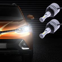 2pcs Automotive headlamps 36w 6500k bulb white car light lamp cars fog light lens led headlight car styling 12v Cars Light Bulbs