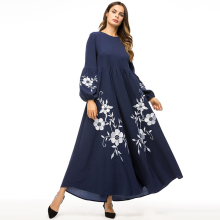 Long Sleeve Muslim Abaya embroidery Dress Kimono Robe Gowns Loose Style Plus Size Jubah Ramadan Middle East Islamic dress