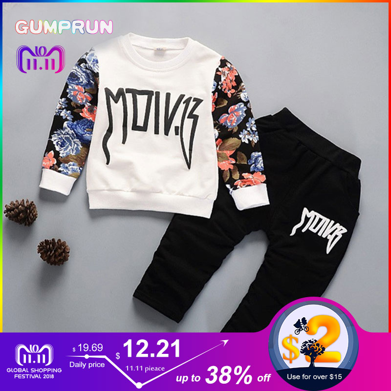 Fashion Winter Kids Clothes Floral Print Boy's clothing Warm long-sleee Children's Clothing set Boy Winter Clothes For kids autumn kids clothes lightning letter print boy s clothing set casual long sleeve children clothing girl winter clothes for kids