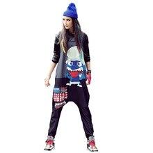 Chỉ. được. neve phụ nữ hip hop jumpsuit màu xanh harajuku đen kawaii Nữ Casual quần letter in Loose pocket mùa hè Thời Trang Dạo Phố