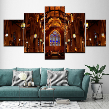 2c0ba65412 Pintura de St. Michael Catedral Basílica-Toronto 5 unidades pintura arte de  pared Modular fondos cartel imprimir Home Decor