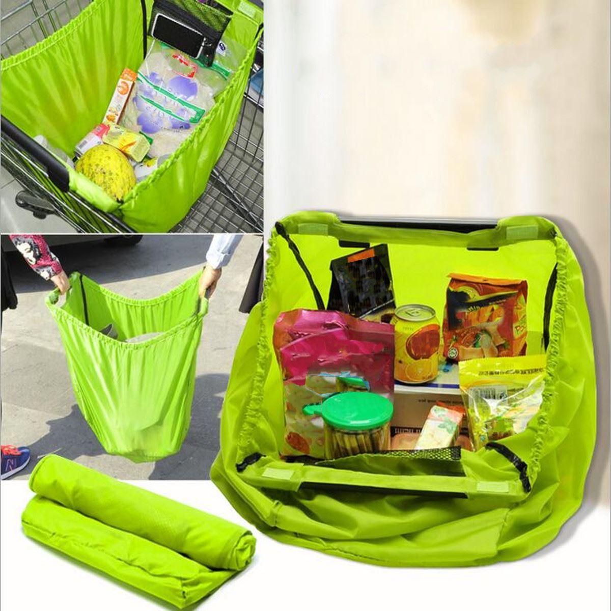 Aliexpress.com : Buy Green Waterproof Nylon Reusable Supermarket ...