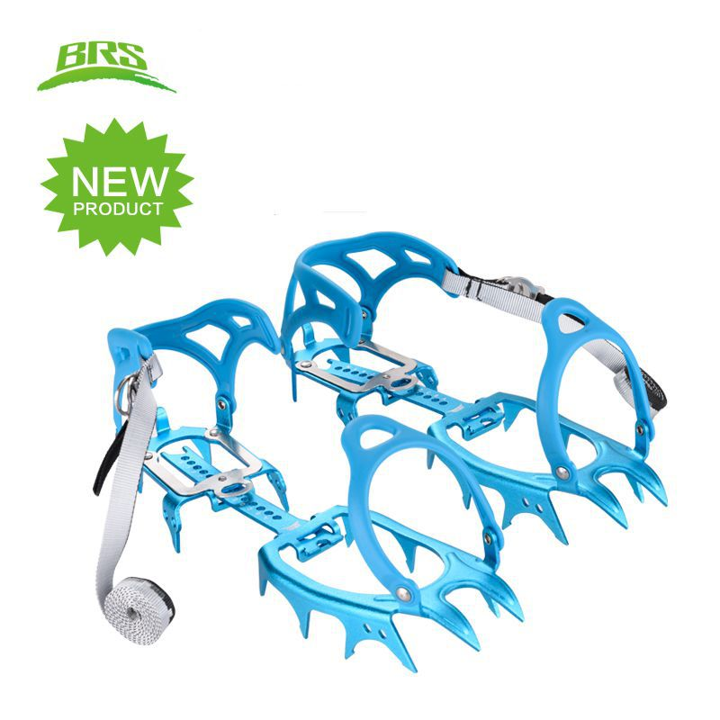 BRS Ice Crampons Aluminium Alloy Ultralight Fourteen Teeth Bundled Ice Gripper Climbing High Altitude Slip resistant