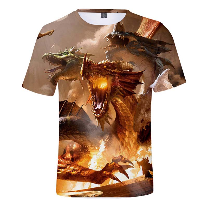 2019 Summer Mens Clothing Dungeons And Dragons t shirt Men Women Child tshirt Tops Around the game Tees t shirt Clothes men in T Shirts from Men 39 s Clothing