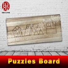Quebra cabeças de madeira para escapar, vida real, adereço, placa de madeira, resolver o quebra cabeça para obter as pistas, número, plugue fios adereços jxkj1987