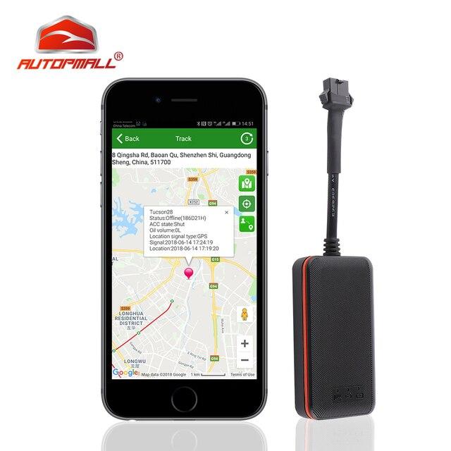 ミニ GPS 車トラッカー遮断燃料油防水 IP66 GPS ロケータオート車両追跡デバイス電源振動アラーム送料アプリ Web