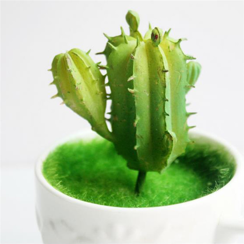 1 Unid Artificial Plástico Miniatura Planta de Cactus Suculentas Echeveria Flor