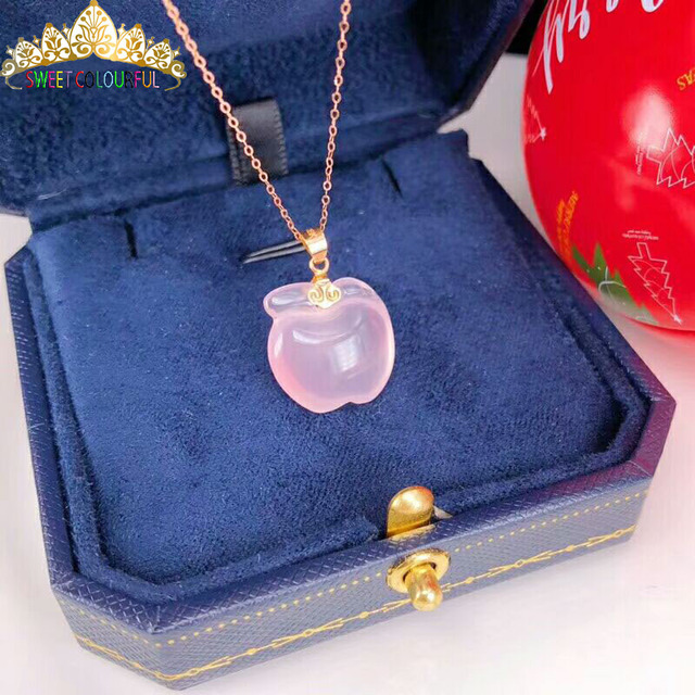 Christmas giftChristmas gift Jewelry Au750 18K Necklac  With national certificate 0012 2