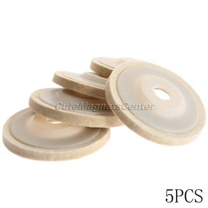 Image 2 - Rueda pulidora de lana de 4 pulgadas y 100mm, almohadillas para pulir, rueda de amoladora angular, disco de pulido de fieltro para Metal, mármol, cerámica de vidrio, 5 uds.
