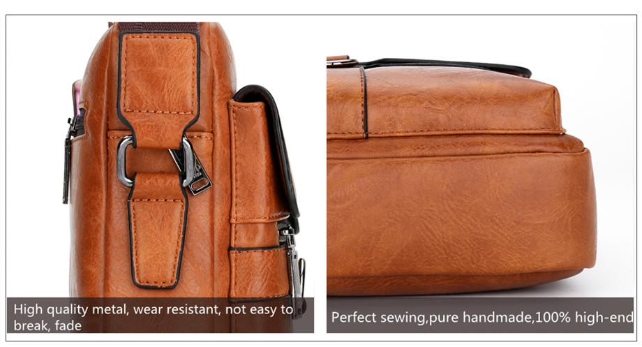 JEEP BULUO Luxury Brand Men Messenger Bags Crossbody Business Casual Handbag Male Spliter Leather Shoulder Bag Large Capacity 22