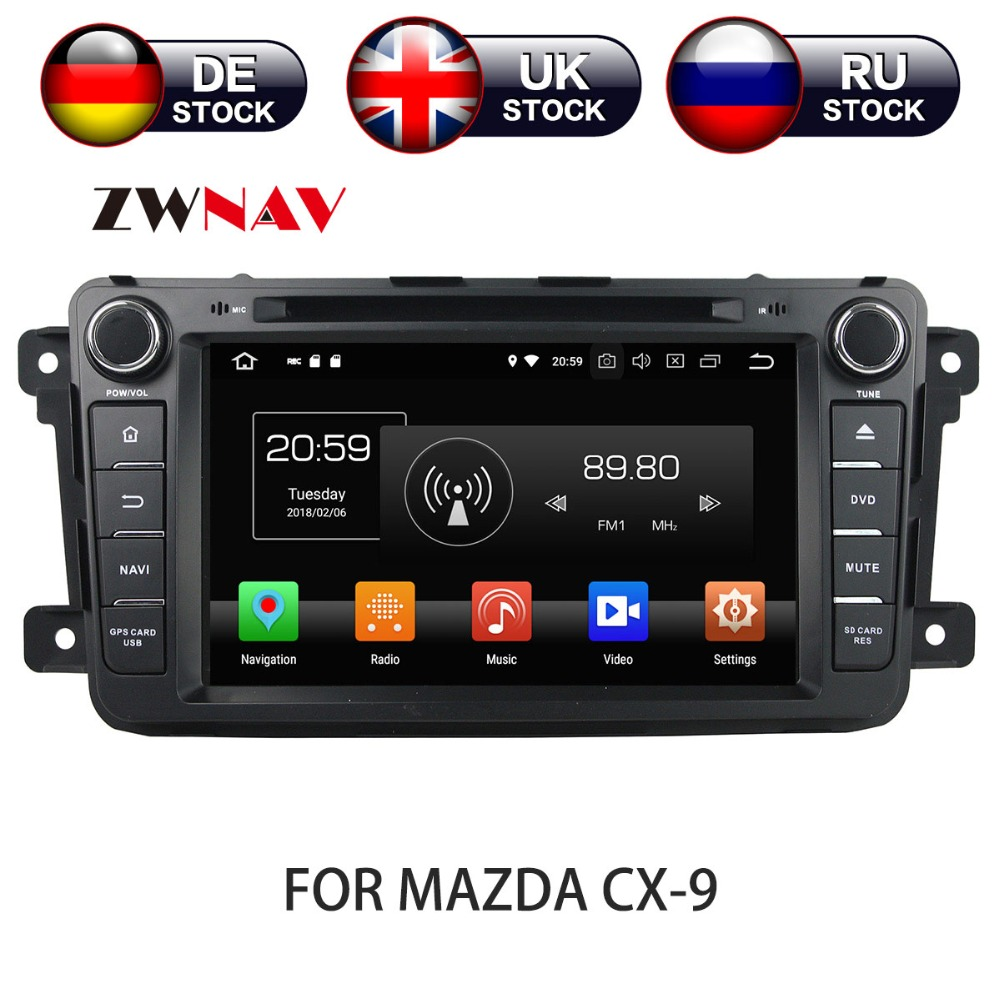 Android 8 Car DVD Player GPS Navigation For Mazda CX-9 2012-2013 Multimedia HeadUnit stereo tape recorder 2 din radio rom 16g 2 din android car dvd for mazda cx 5 2012 2013 2014 navigation radio audio gps ipod bluetooth russian menu