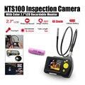 """Dia 8.2mm 2.7 """"LCD NTS100 Endoscopio Endoscopio 1 M Inspección de Tubos Serpiente Cámara DVR + Free 18650 de Litio batería"""