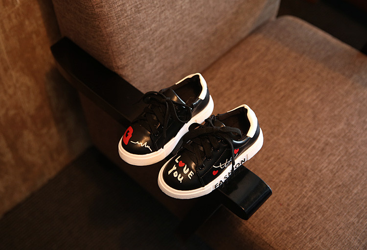 COZULMA Girls Boys Casual Shoes Sneakers 17 Children Sport Shoes Baby Boys Shoes Kids Letters Lace-Up Running Shoes Sneakers 7