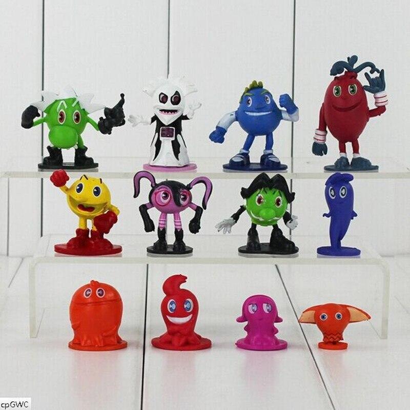 10sets Pixels Pac Man O Bert PVC Action Figure Toys Collective Dolls 1set=12pcs