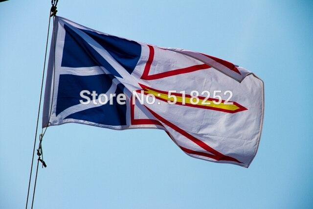 Terre-neuve Drapeau 3x5 FT 150X90 CM Bannière 100D Polyester drapeau en laiton oeillets 018, livraison gratuite