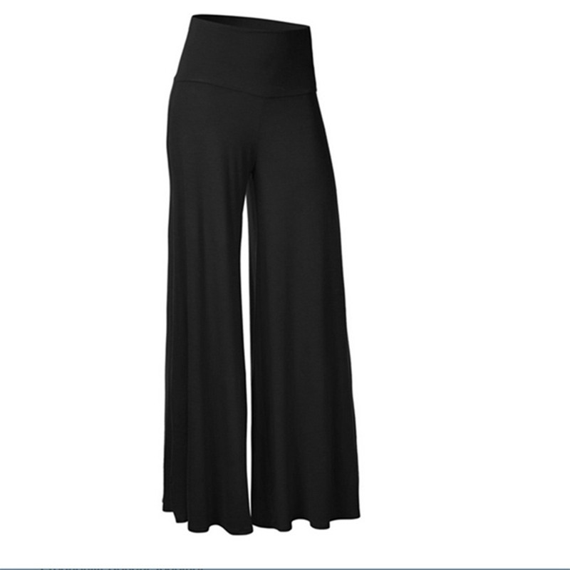 Flare Pants Women Summer Autumn Mid-waist Wide-leg Pants Simple Fashion Hippie BOHO Casual Trousers Loose pantalon femme Befree