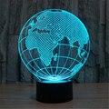 Globo 3D LED Casa Lâmpada USB Lâmpada de Mesa de Cabeceira Decorativo Mapa Do Mundo Europa-Ásia-América VR Projeção Noturna de Natal -- a + B + C