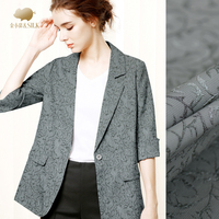 Fashion Jacquard Wool Fabric Autumn And Winter Ultra Fine Jacquard Fashion Fabric High End Wool Jacquard