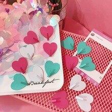 цена на 10pcs Korea Ins Cute Practical Pink Love Stainless Steel Home Decorative Hooks Simple Creative Love Sticky Hooks 4.3*4*4cm