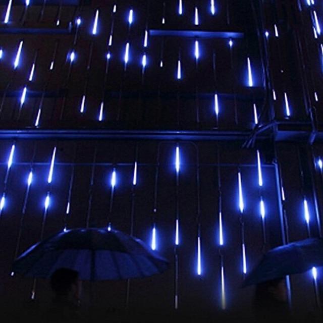 8pcslot 30cm led meteor shower rain drop dip tube multicolor white led lights for