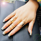 F&U Zinc Alloy Gold Color Ring Set for 5pcs Fashion Girls Gift Jewelry Bijoux Europe Popular Style Ring Sets stackable rings