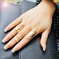 F&U Zinc Alloy Gold Plated Ring Set for 5pcs Fashion Girls Gift Jewelry Bijoux Europe Popular Style Set Ring