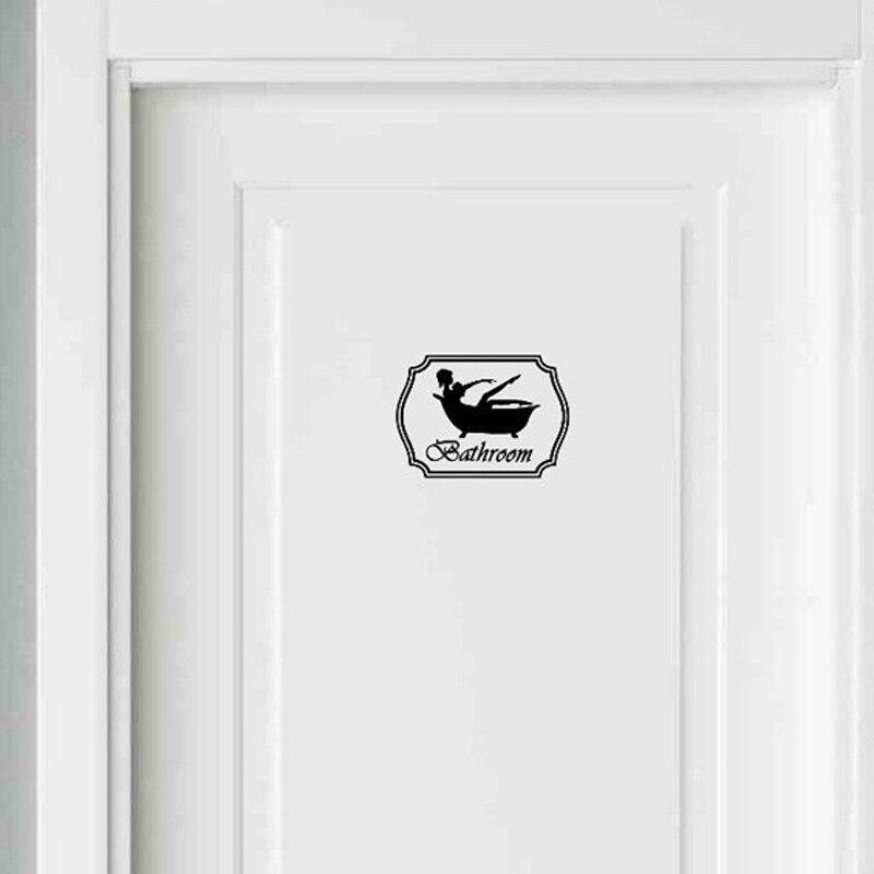 Ванная комната Стикеры Для ванной Туалеты душ Для ванной Ванна девушка женщина черный винил Стикеры 2ws0035