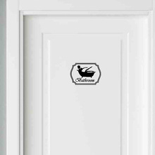 Bathroom Sticker Bath Toilets Shower Bathtub Girl Woman Black Vinyl Sticker 2WS0035